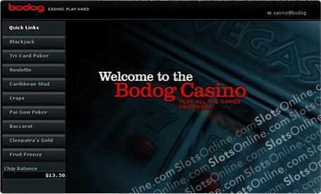 Bodog Casino Lobby