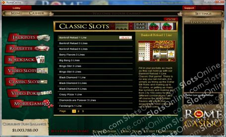 Rome Casino Lobby